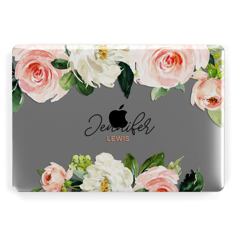 Bunches of Roses Personalised Names Macbook Case