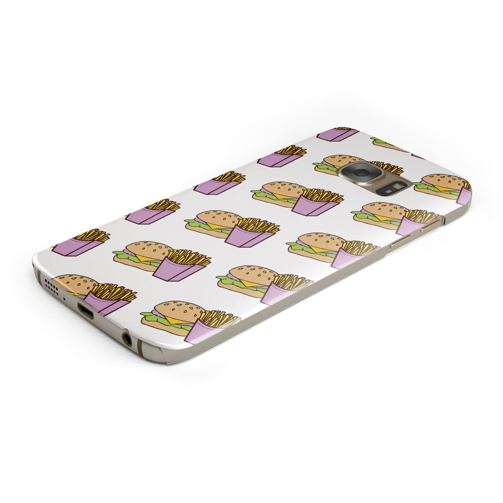 Burger Fries Fast Food Samsung Galaxy Case Bottom Cutout