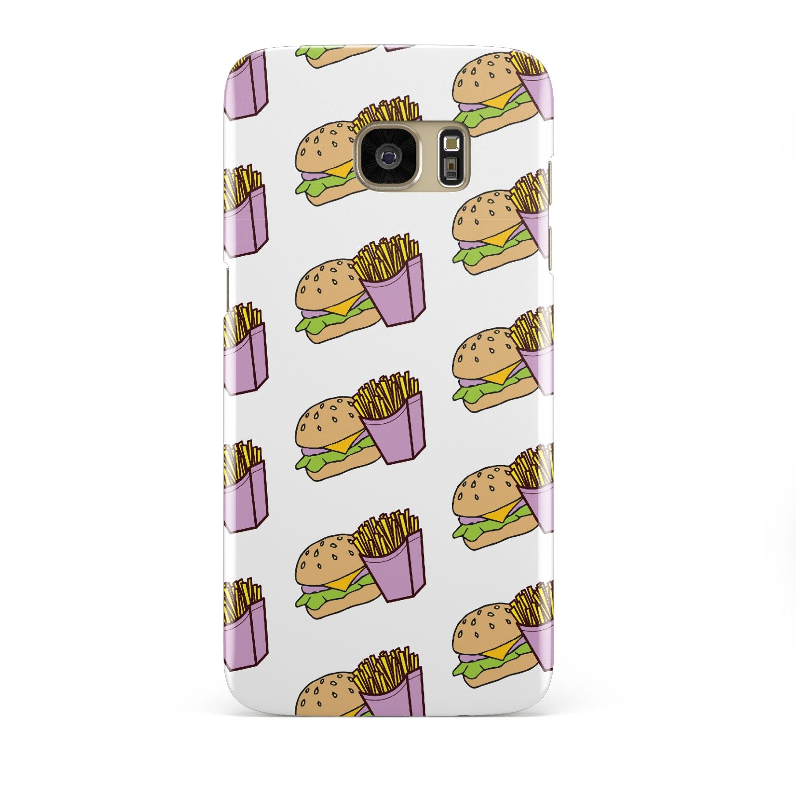 Burger Fries Fast Food Samsung Galaxy S7 Edge Case