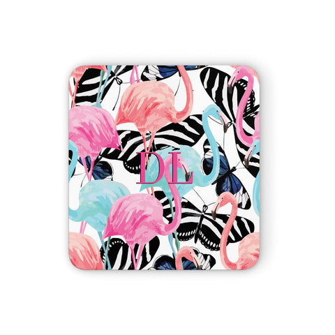 Butterflies & Flamingos Coasters set of 4