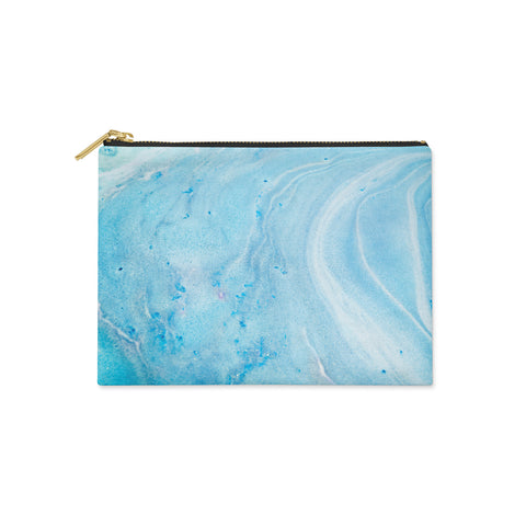 Blue Marble Canvas Clutch