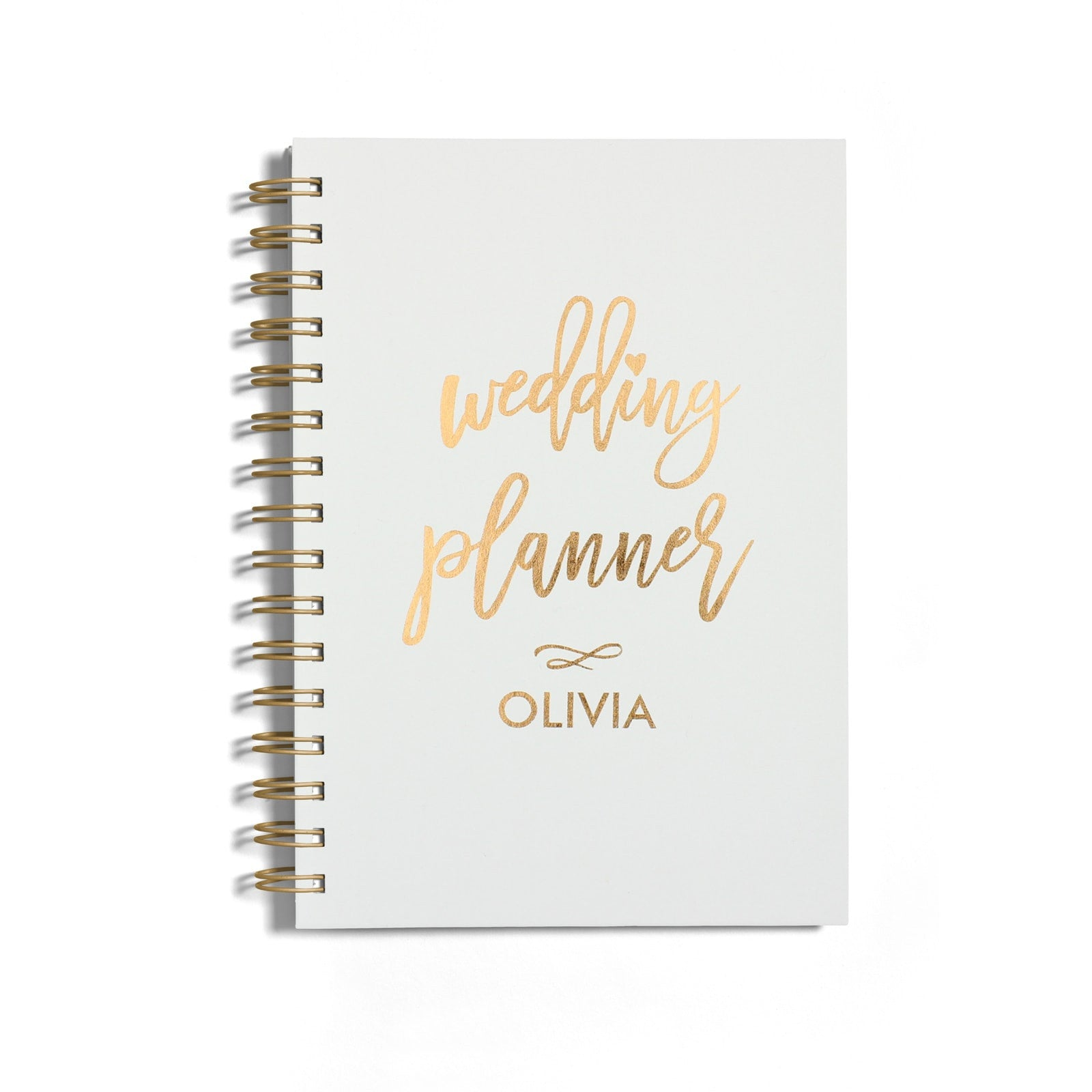 Personalised Copper Foil Wedding Planner Notebook