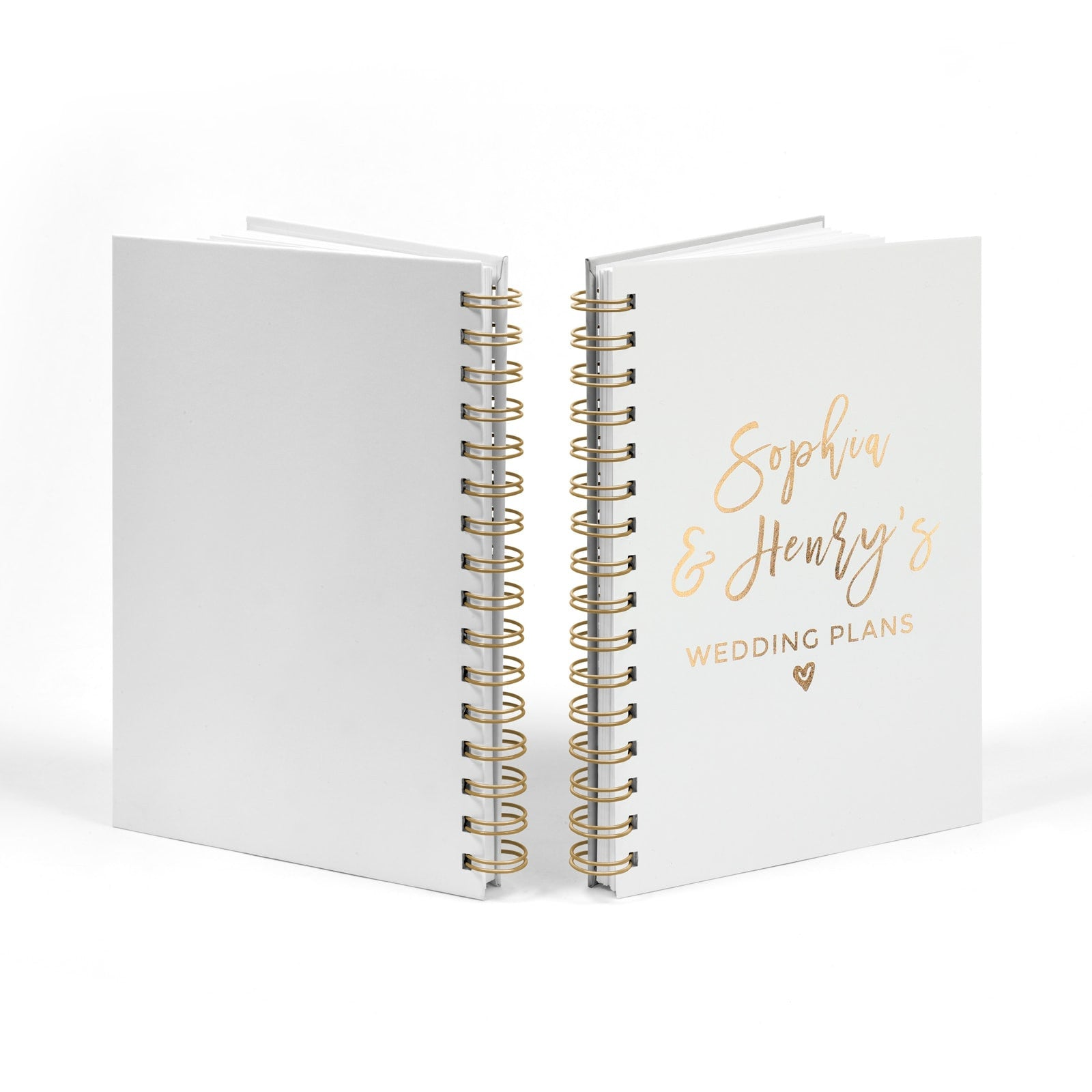 Personalised Copper Foil Wedding Plans Book Front & Back