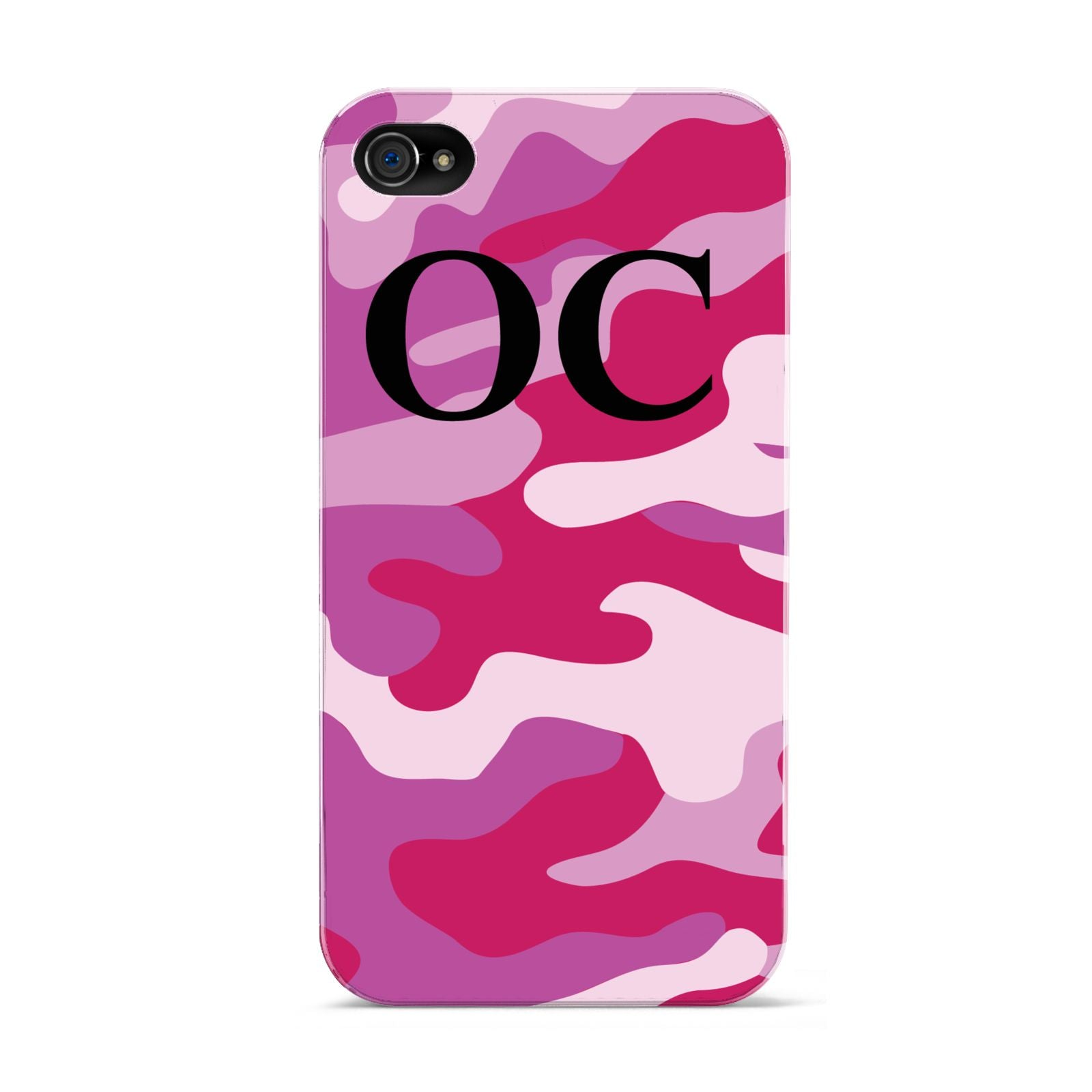 Camouflage Personalised Apple iPhone 4s Case