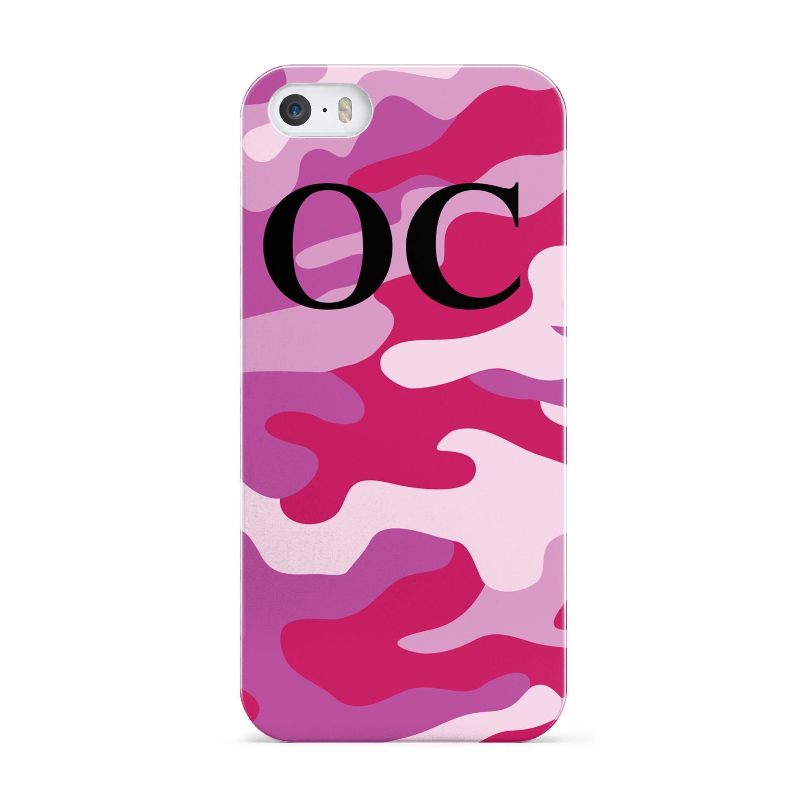 Camouflage Personalised Apple iPhone 5 Case