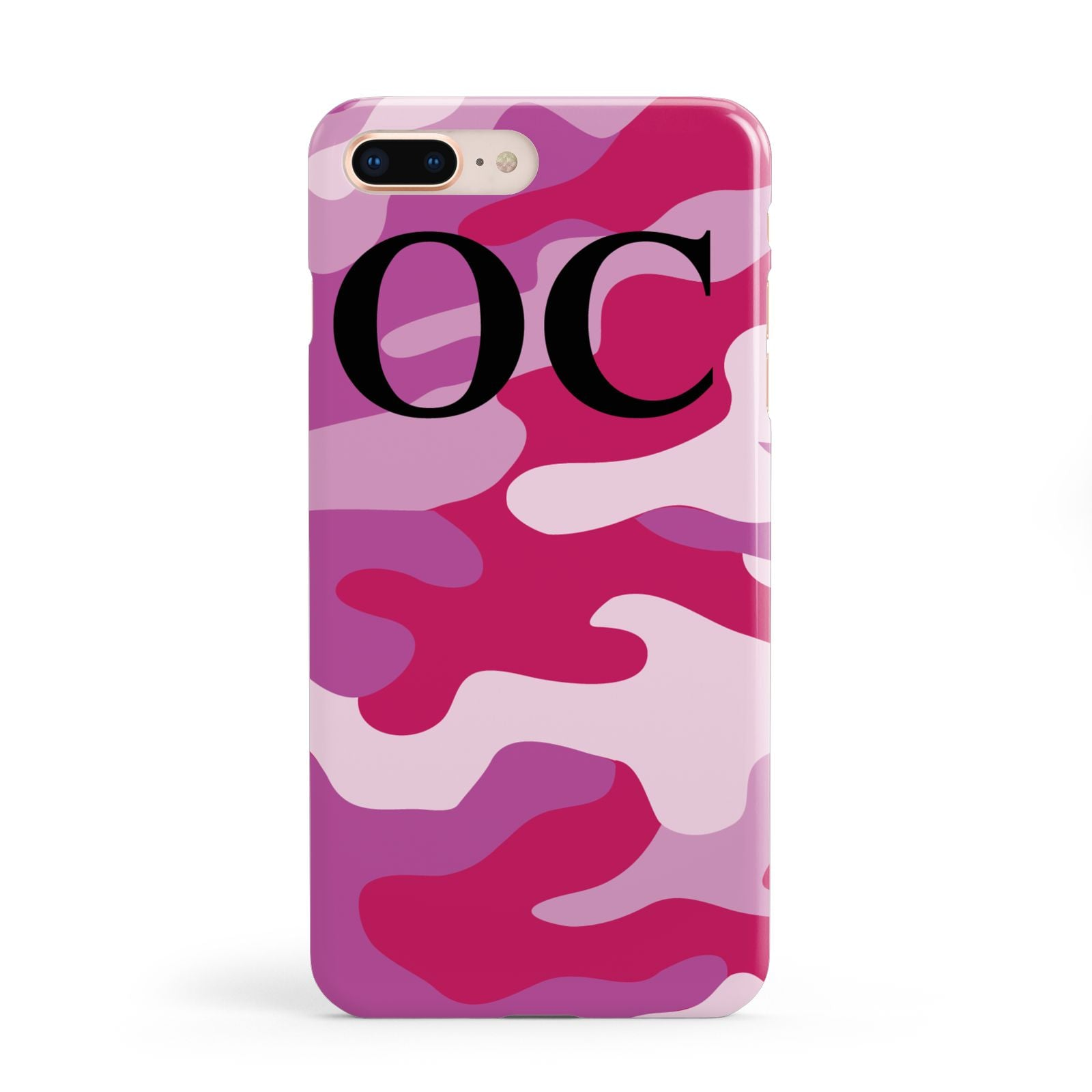 Camouflage Personalised Apple iPhone 8 Plus Case