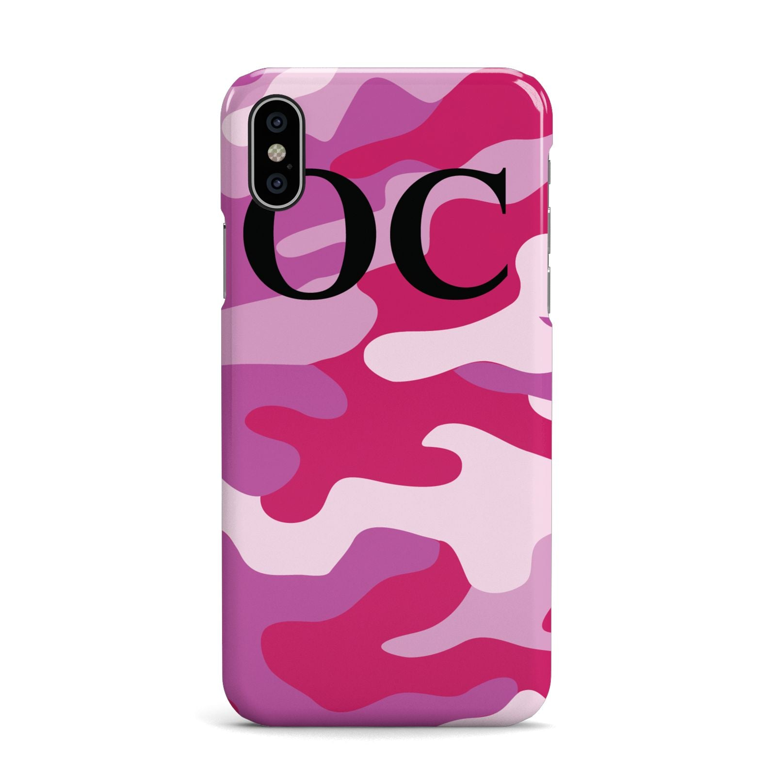 Camouflage Personalised Apple iPhone X Case