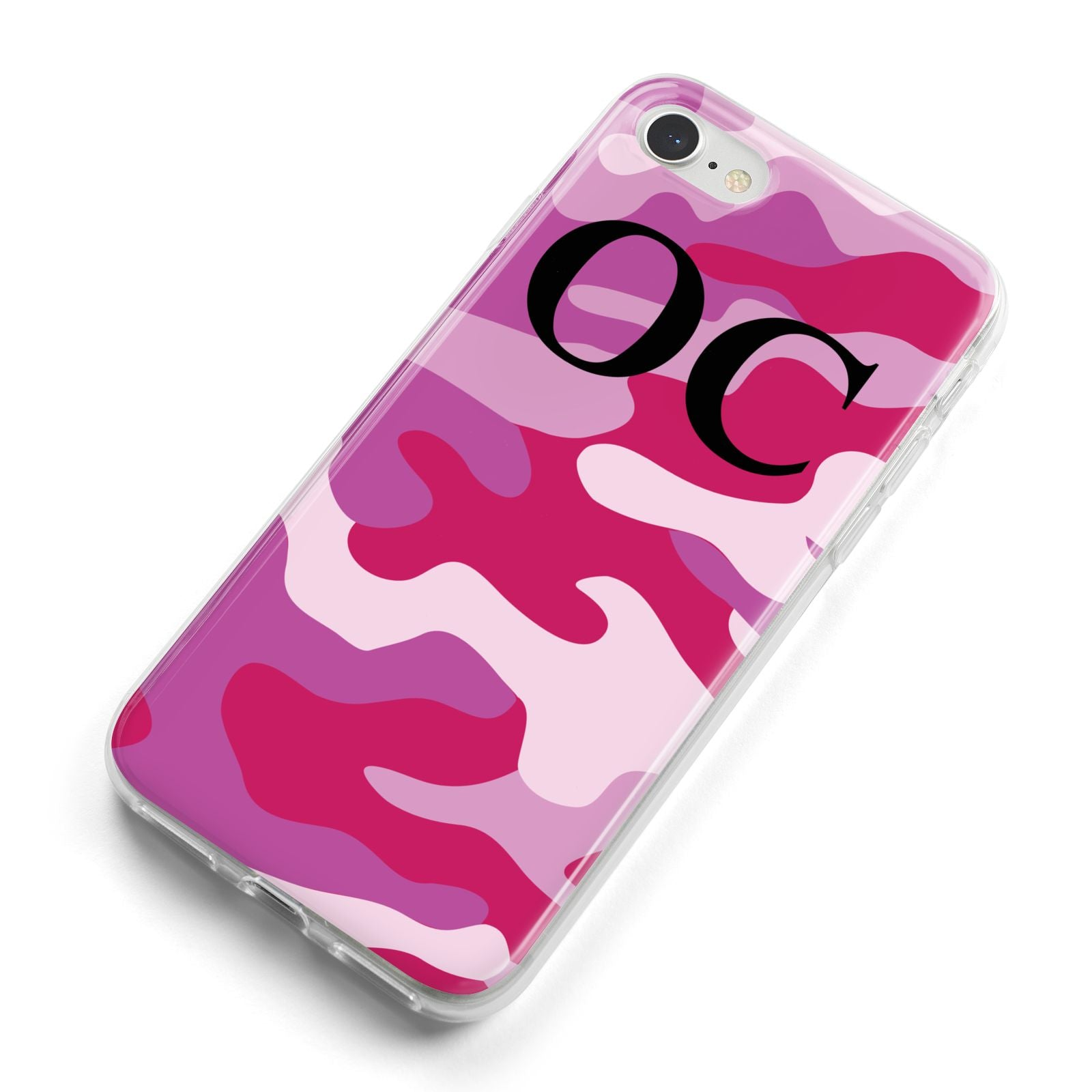 Camouflage Personalised iPhone 8 Bumper Case on Silver iPhone Alternative Image