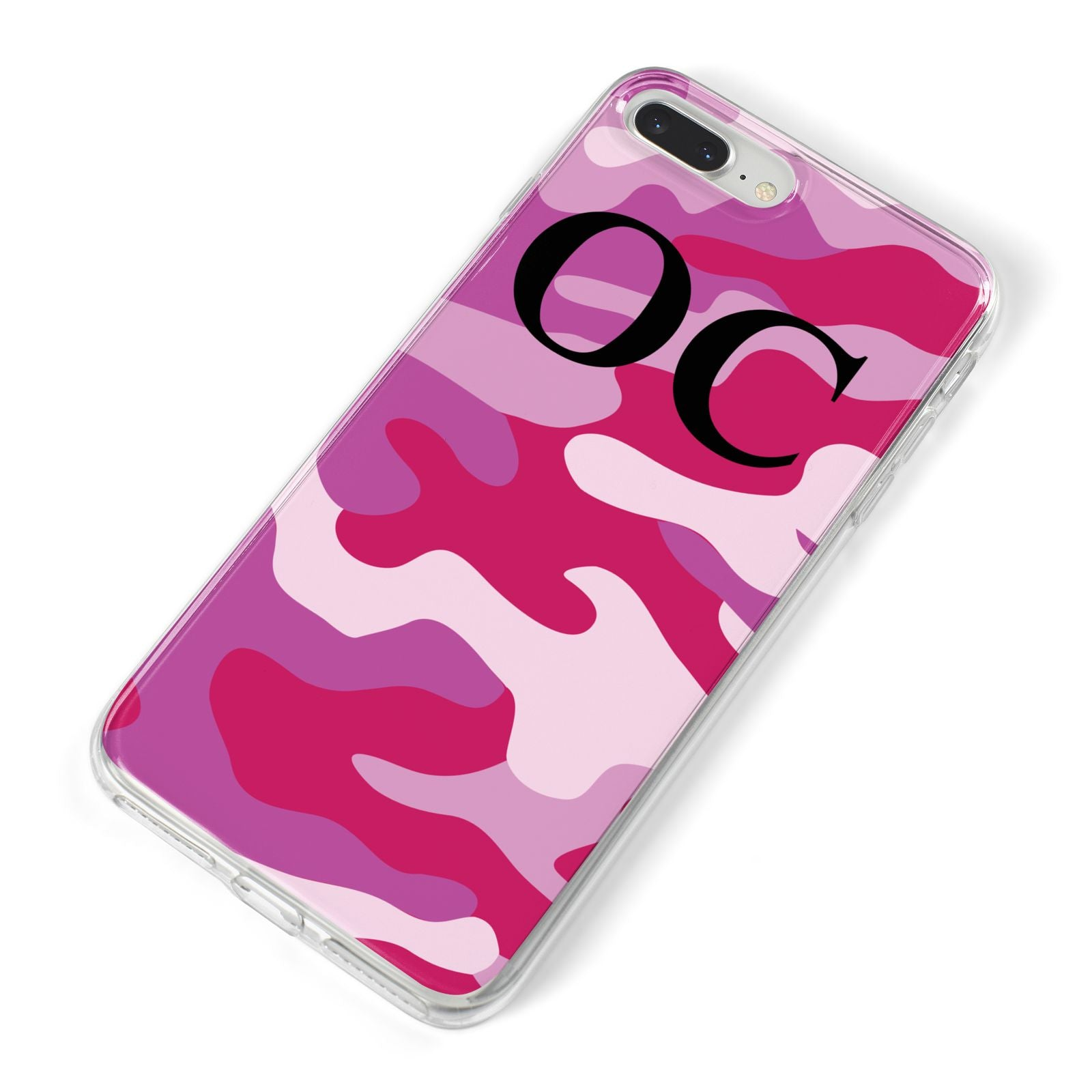 Camouflage Personalised iPhone 8 Plus Bumper Case on Silver iPhone Alternative Image