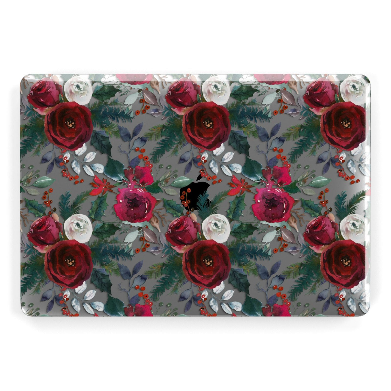 Christmas Floral Pattern Apple MacBook Case