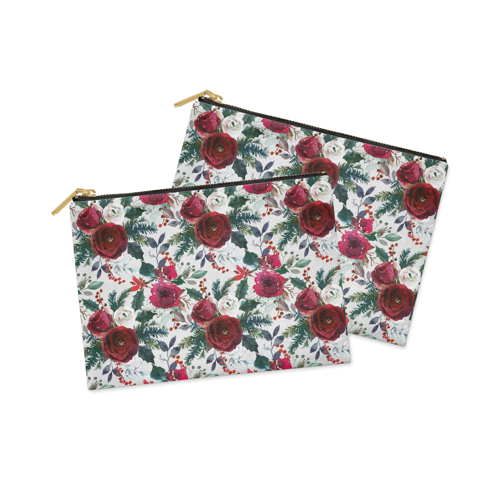 Christmas Floral Pattern Clutch Bag Zipper Pouch Alternative View