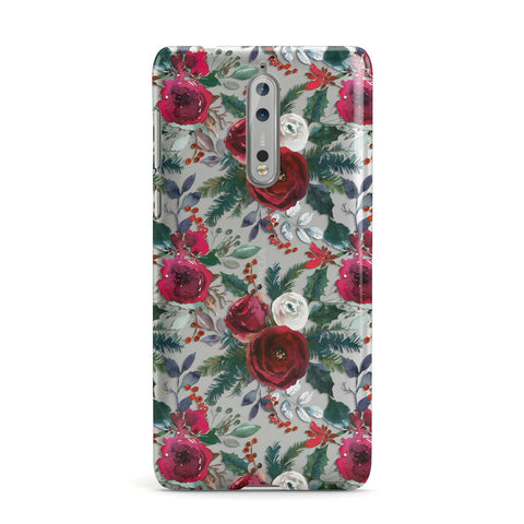 Christmas Floral Pattern Nokia Case