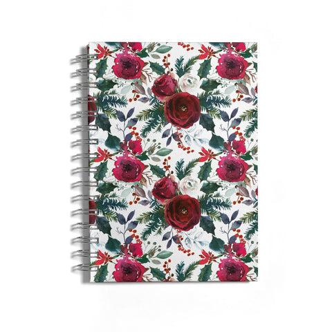 Christmas Floral Pattern Notebook