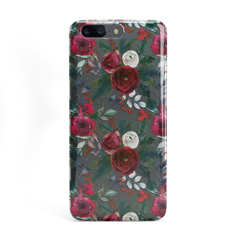 Christmas Floral Pattern OnePlus Case