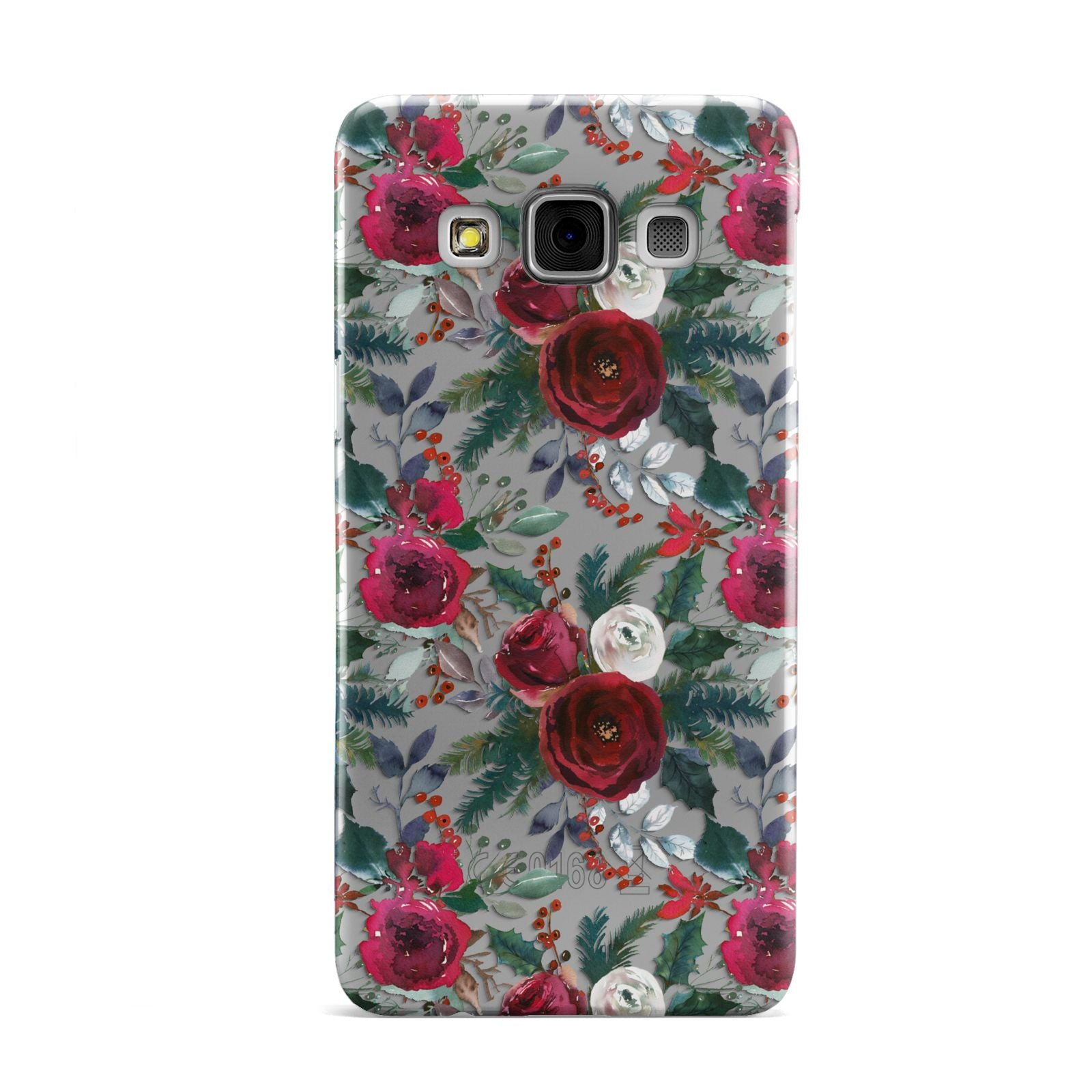 Christmas Floral Pattern Samsung Galaxy A3 Case