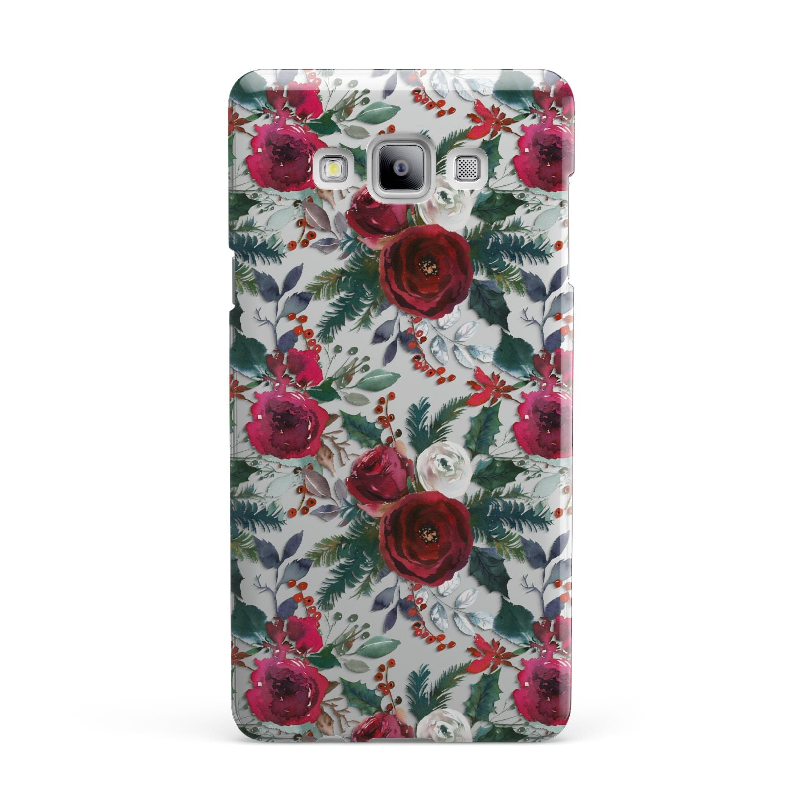 Christmas Floral Pattern Samsung Galaxy A7 2015 Case