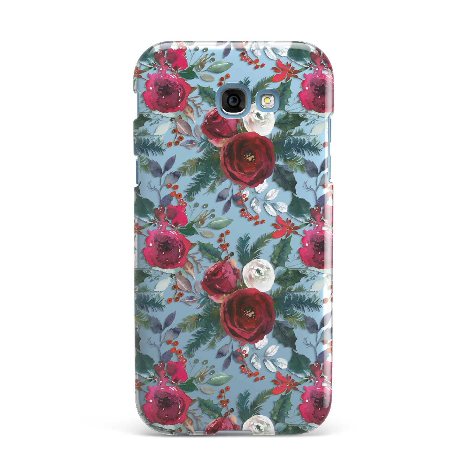 Christmas Floral Pattern Samsung Galaxy A7 2017 Case