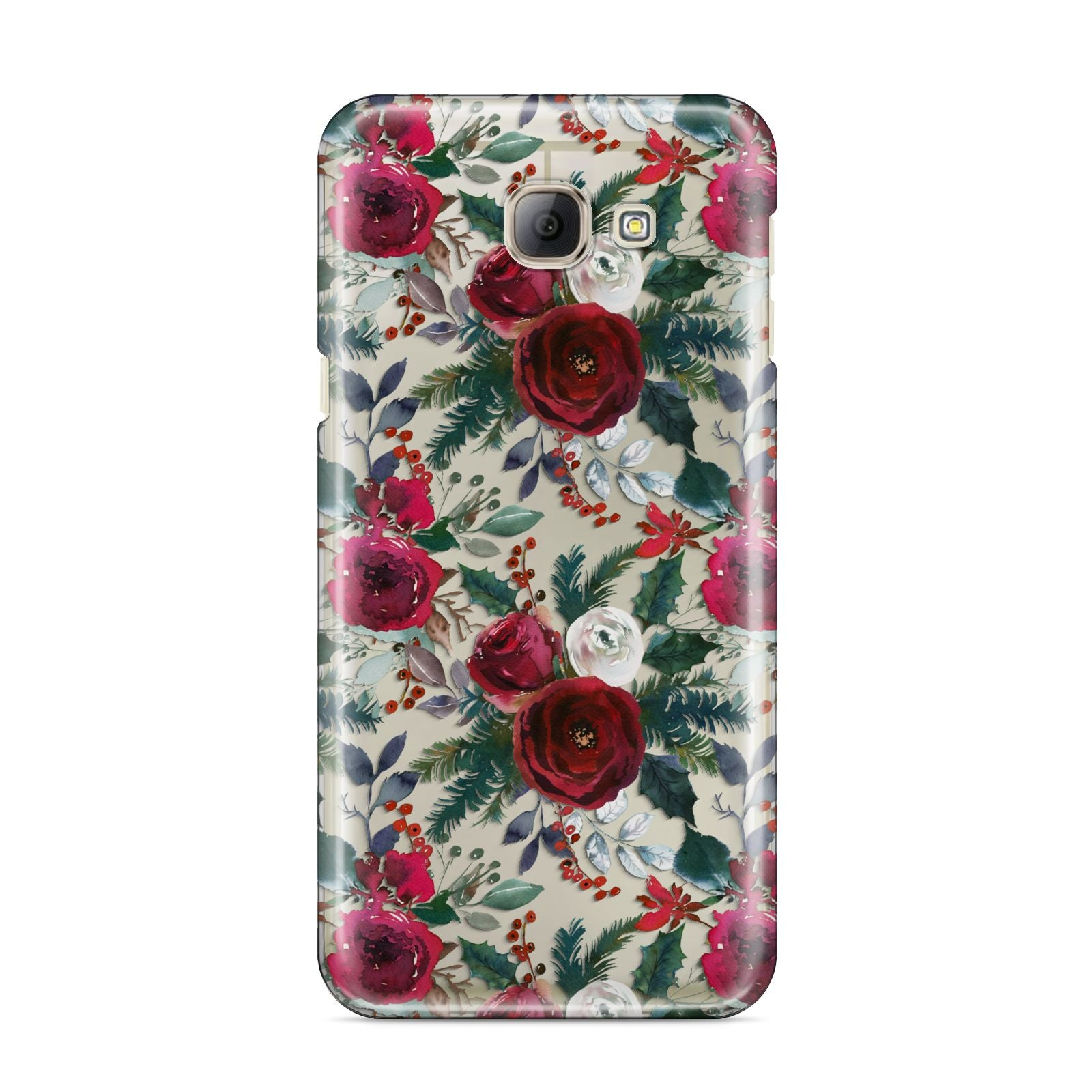 Christmas Floral Pattern Samsung Galaxy A8 2016 Case