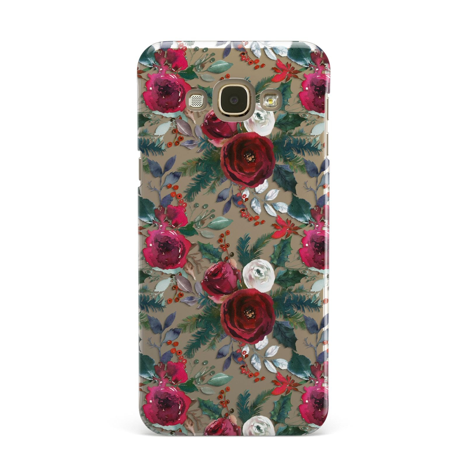 Christmas Floral Pattern Samsung Galaxy A8 Case