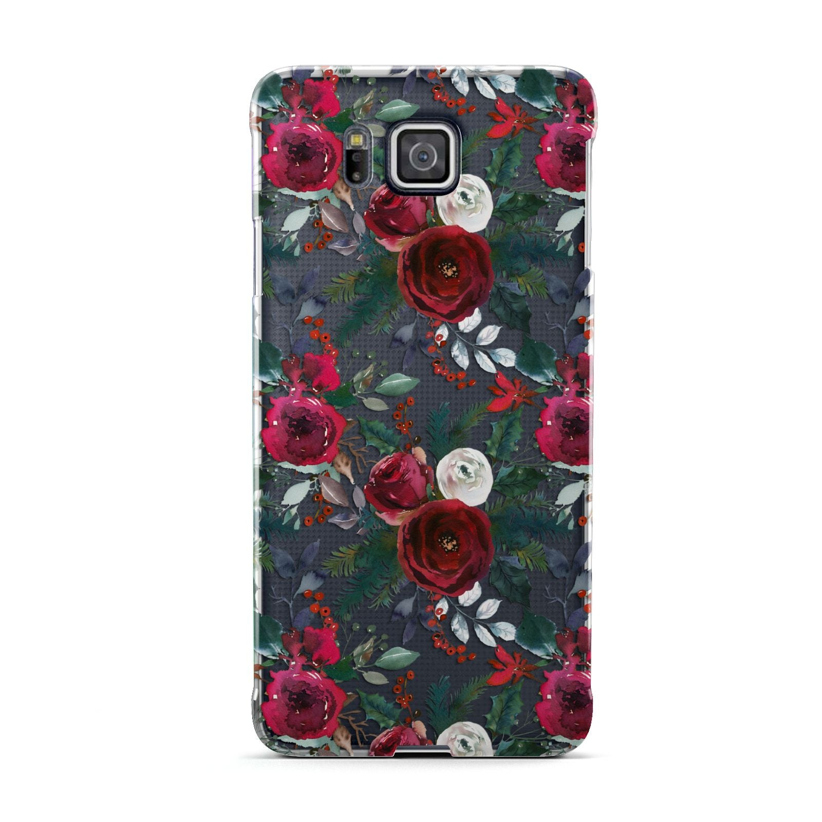Christmas Floral Pattern Samsung Galaxy Alpha Case