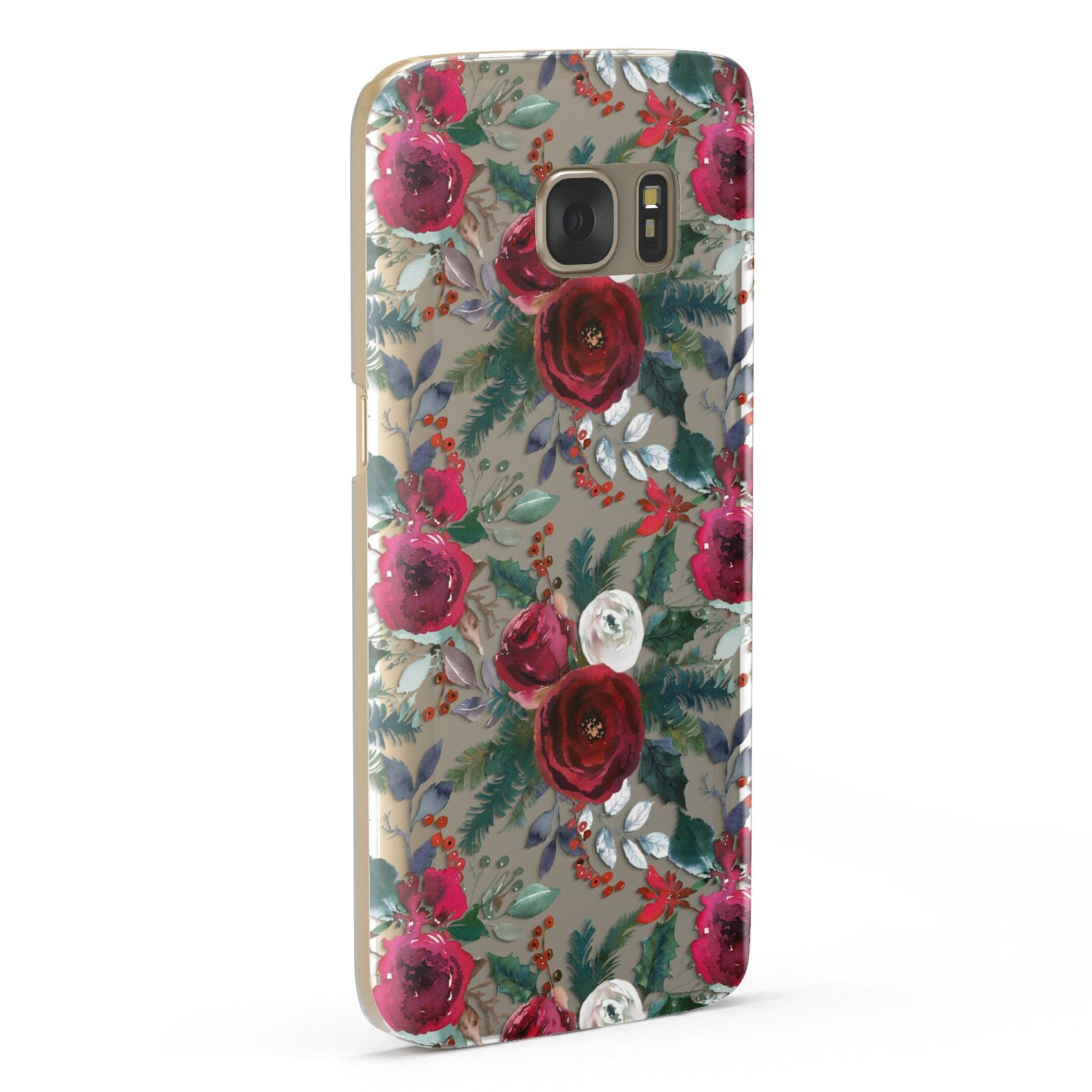 Christmas Floral Pattern Samsung Galaxy Case Fourty Five Degrees