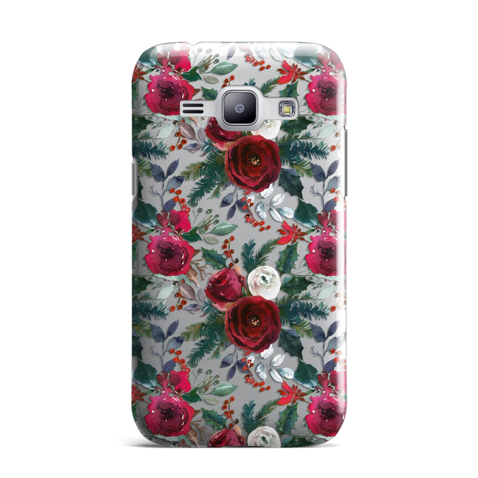 Christmas Floral Pattern Samsung Galaxy J1 2015 Case
