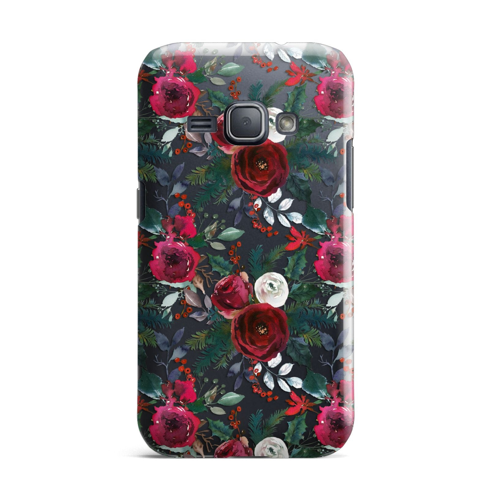 Christmas Floral Pattern Samsung Galaxy J1 2016 Case