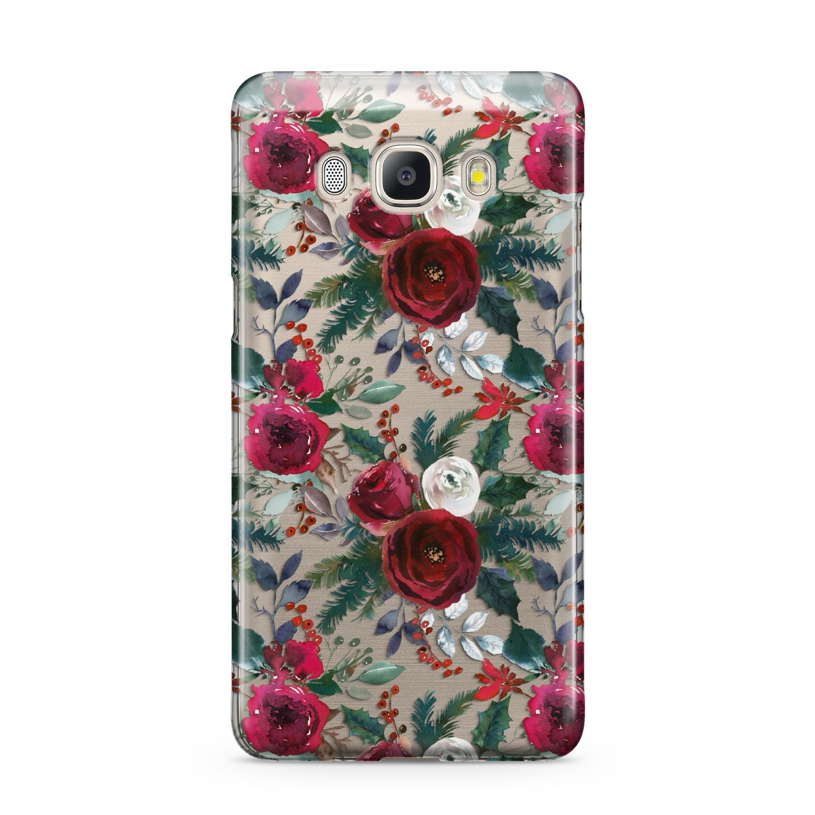 Christmas Floral Pattern Samsung Galaxy J5 2016 Case