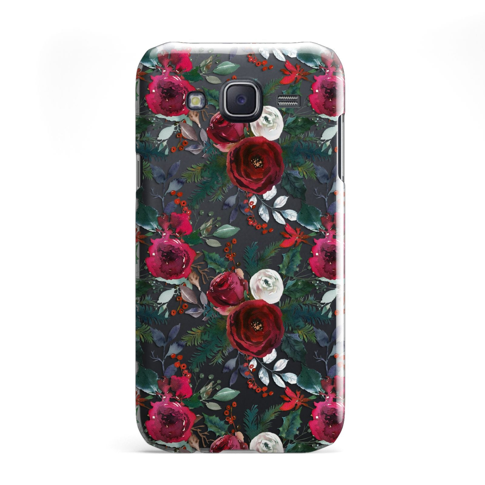 Christmas Floral Pattern Samsung Galaxy J5 Case