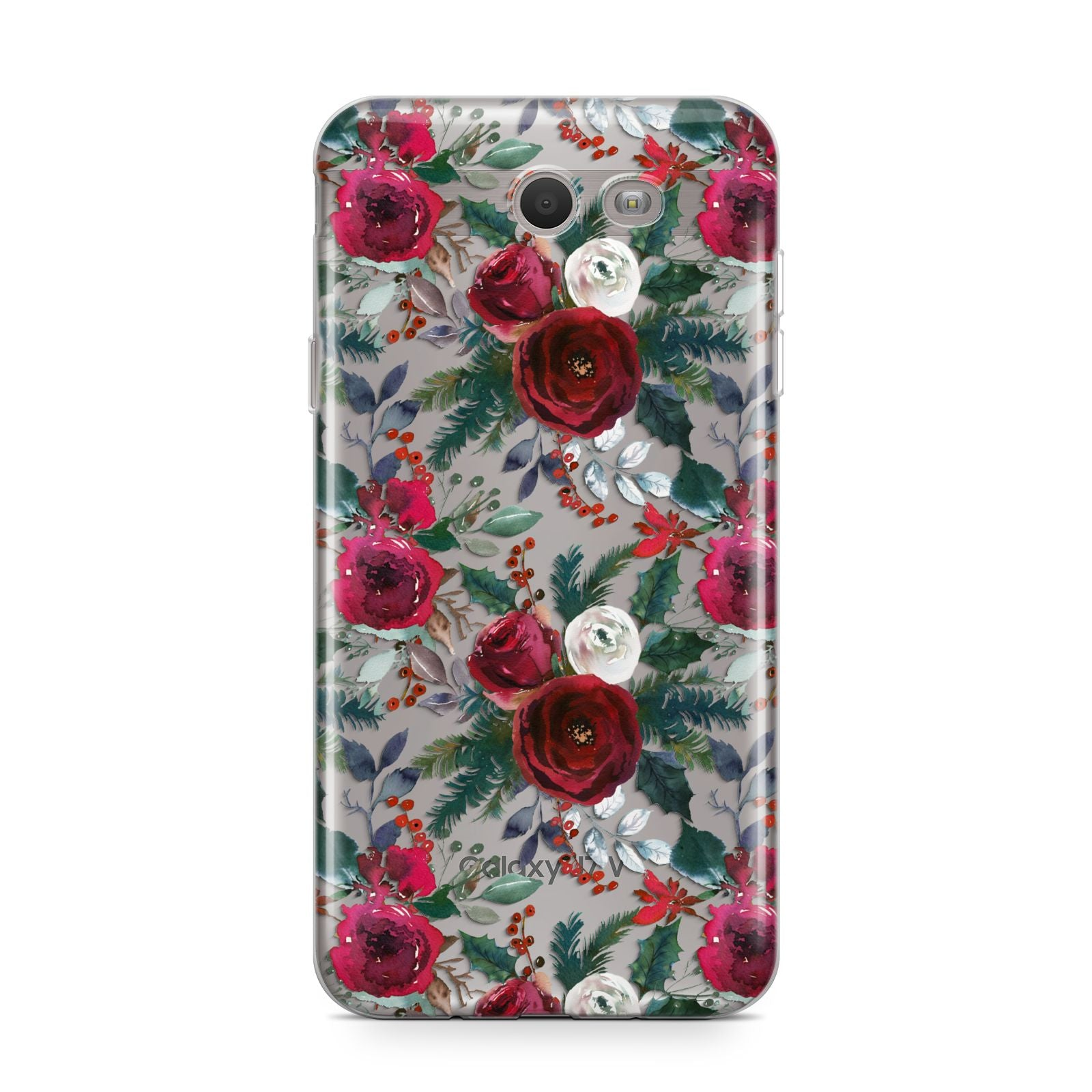 Christmas Floral Pattern Samsung Galaxy J7 2017 Case