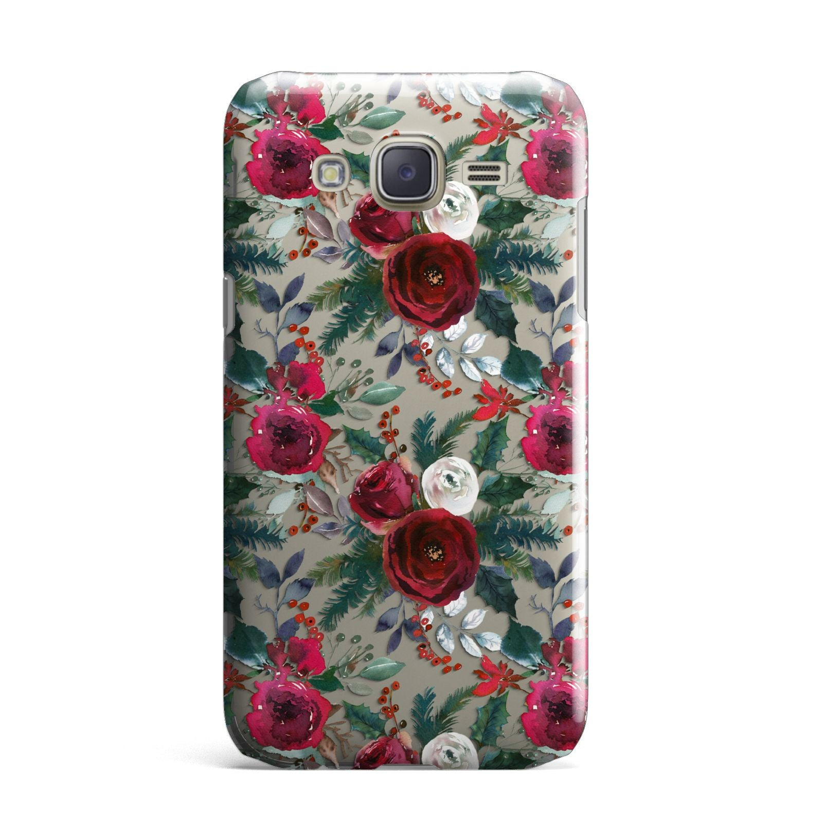 Christmas Floral Pattern Samsung Galaxy J7 Case