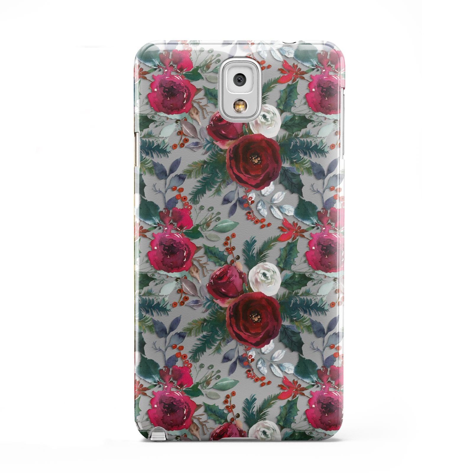 Christmas Floral Pattern Samsung Galaxy Note 3 Case