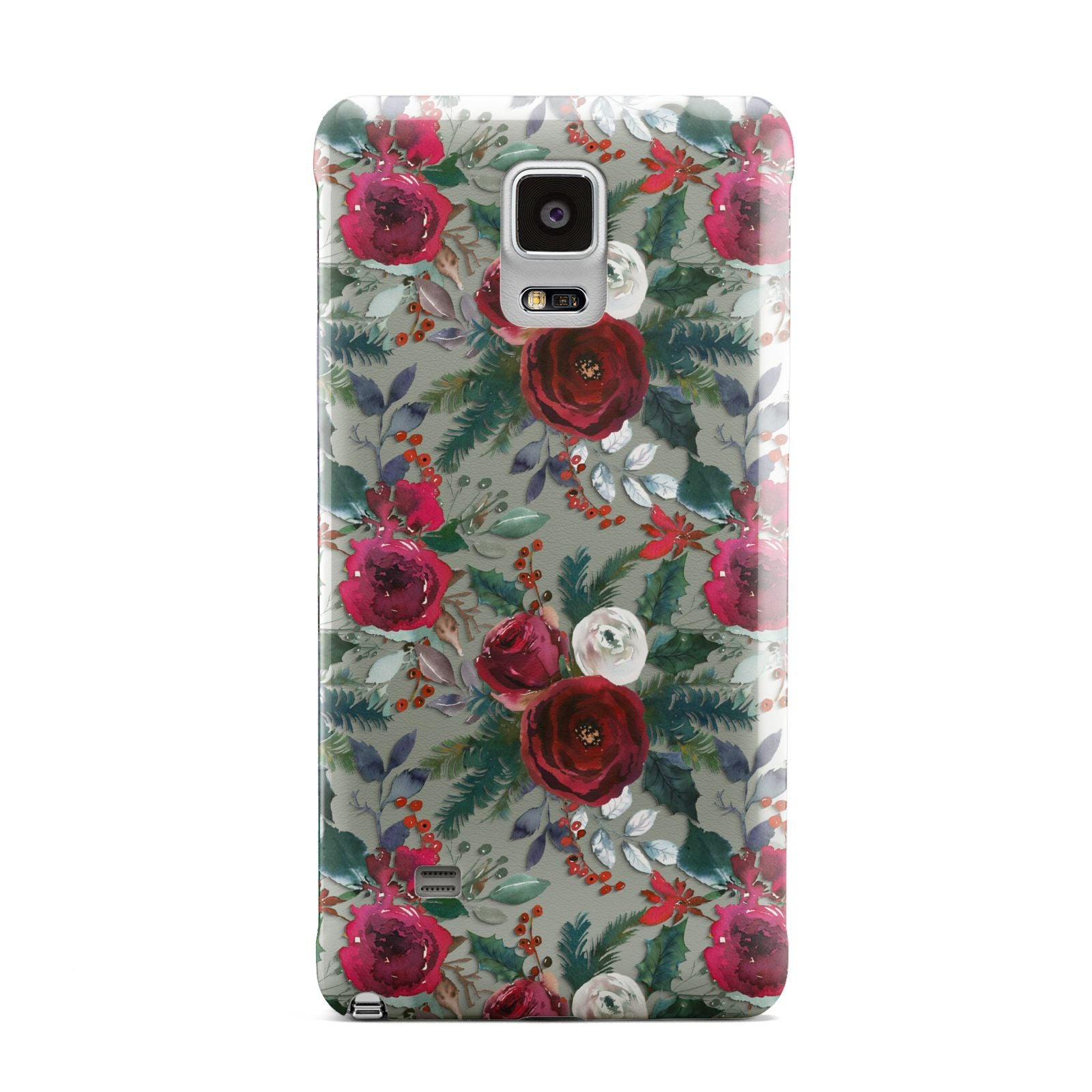Christmas Floral Pattern Samsung Galaxy Note 4 Case