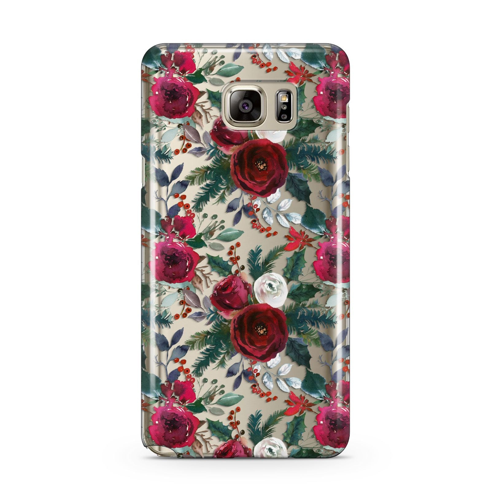 Christmas Floral Pattern Samsung Galaxy Note 5 Case