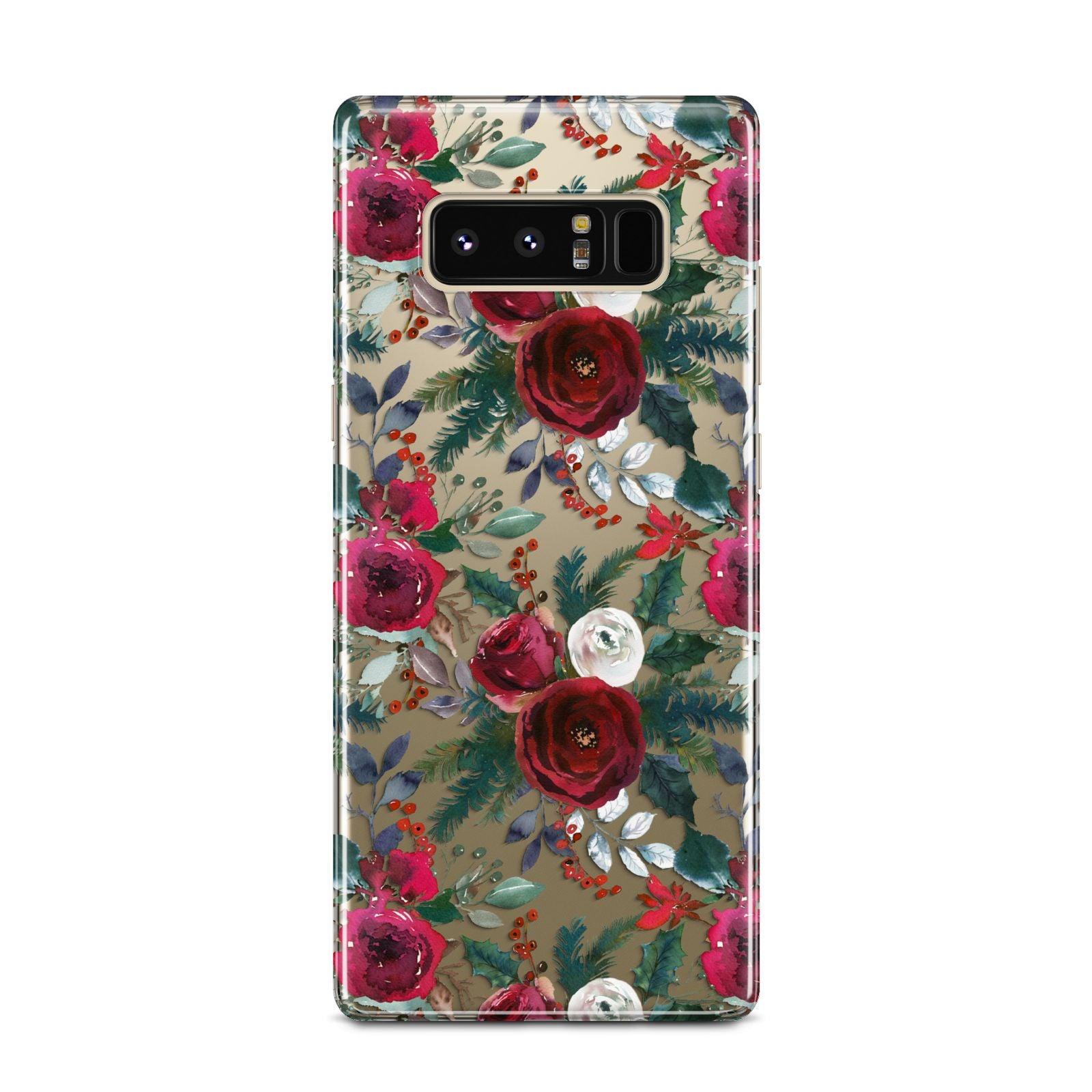 Christmas Floral Pattern Samsung Galaxy Note 8 Case