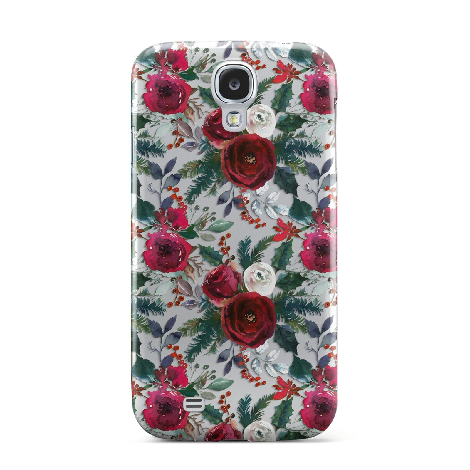 Christmas Floral Pattern Samsung Galaxy S4 Case