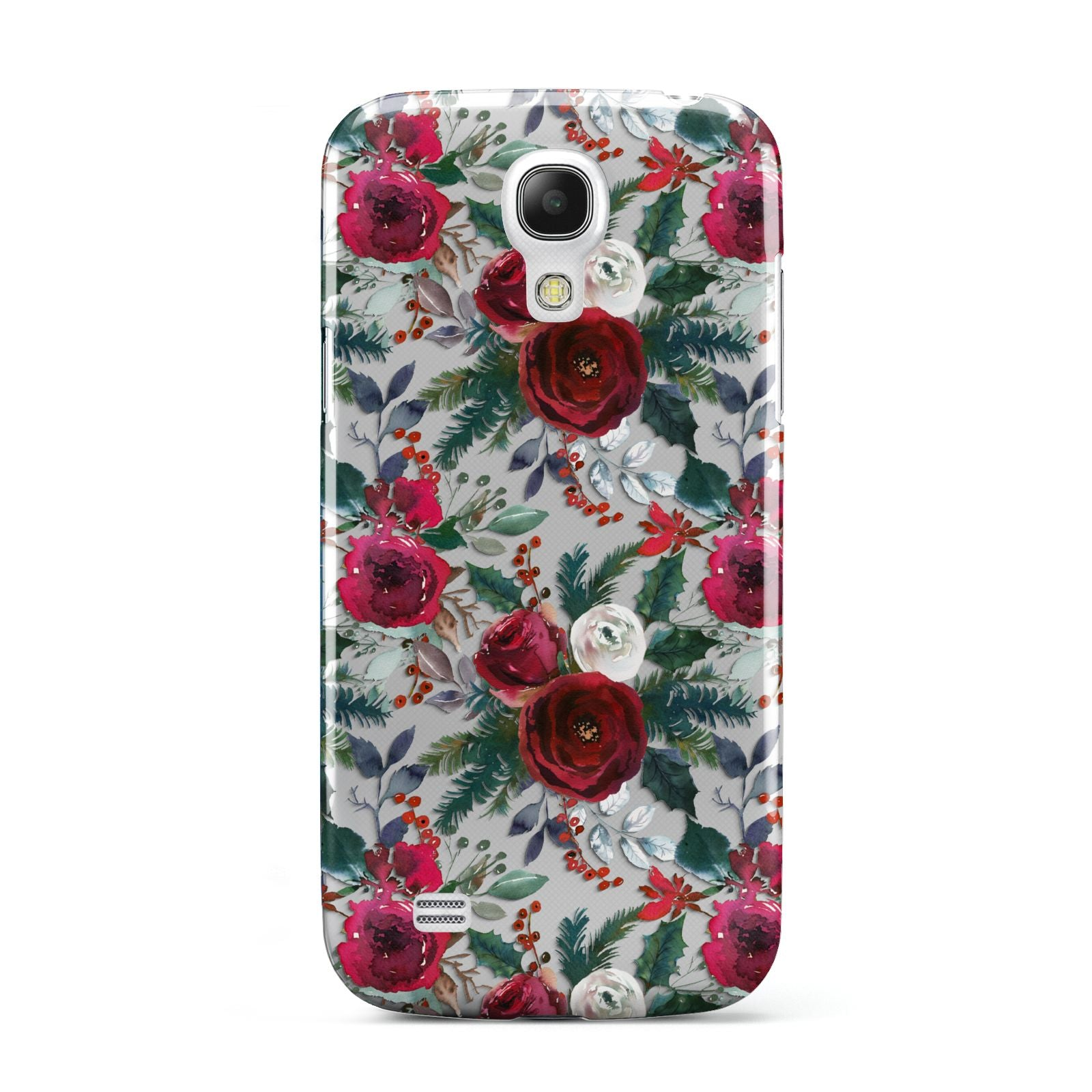 Christmas Floral Pattern Samsung Galaxy S4 Mini Case