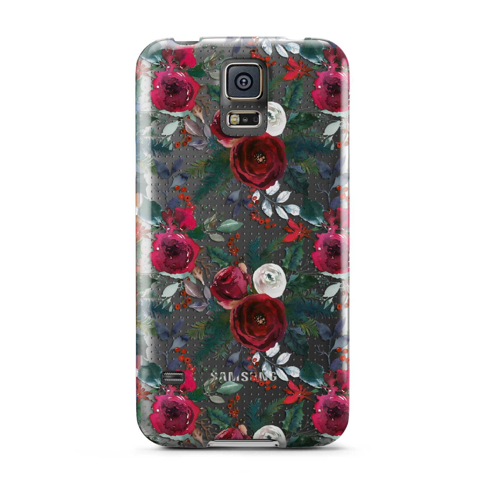 Christmas Floral Pattern Samsung Galaxy S5 Case