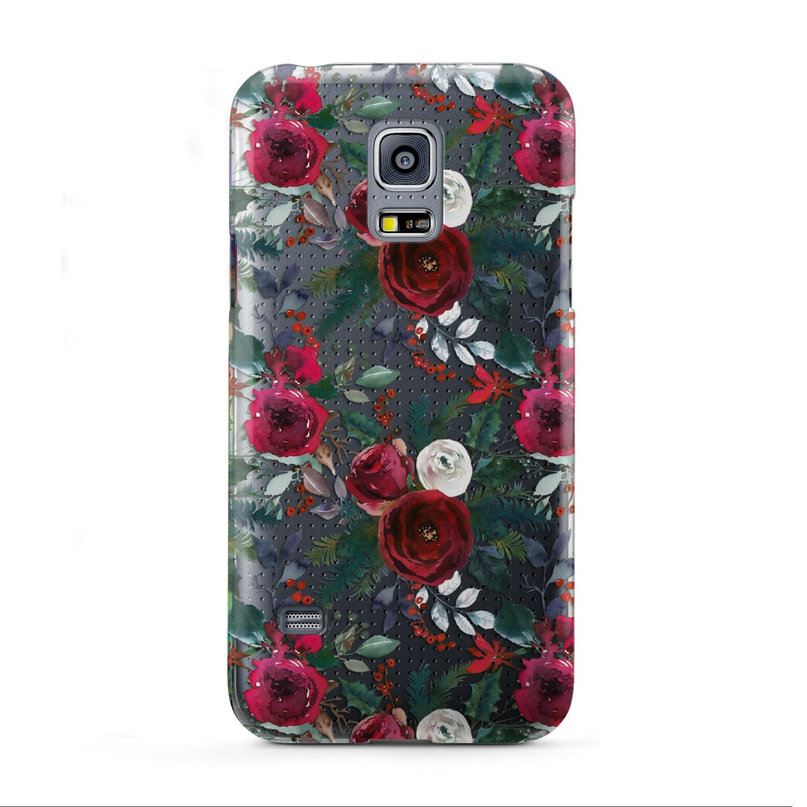 Christmas Floral Pattern Samsung Galaxy S5 Mini Case