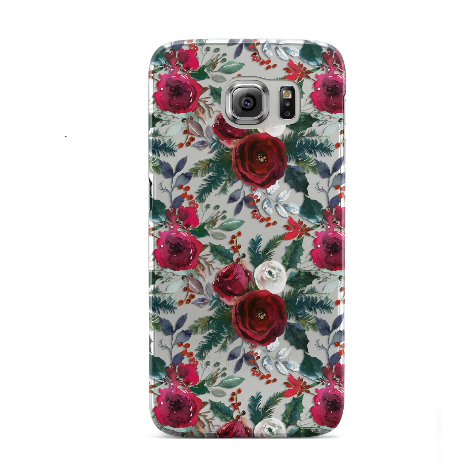 Christmas Floral Pattern Samsung Galaxy S6 Case