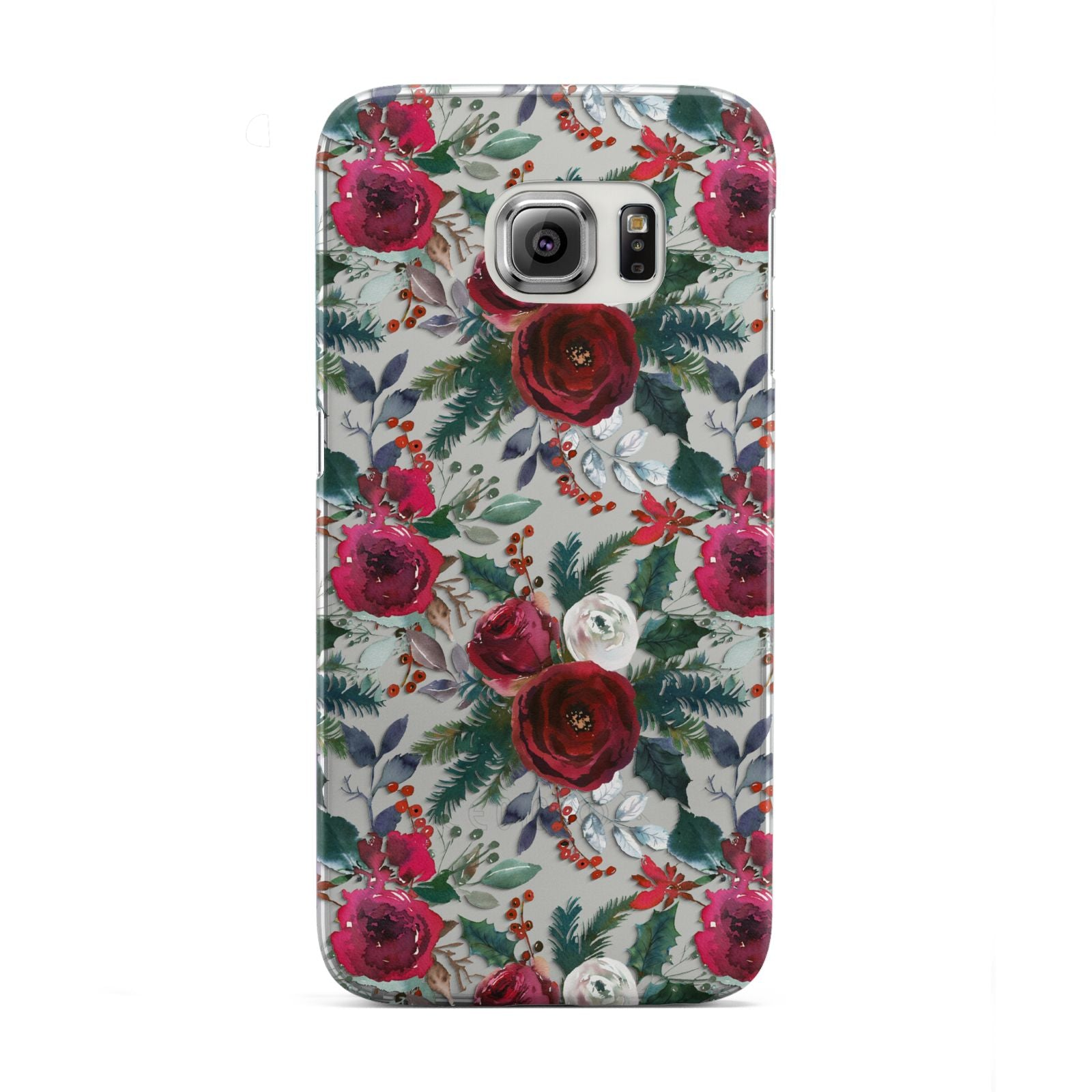 Christmas Floral Pattern Samsung Galaxy S6 Edge Case