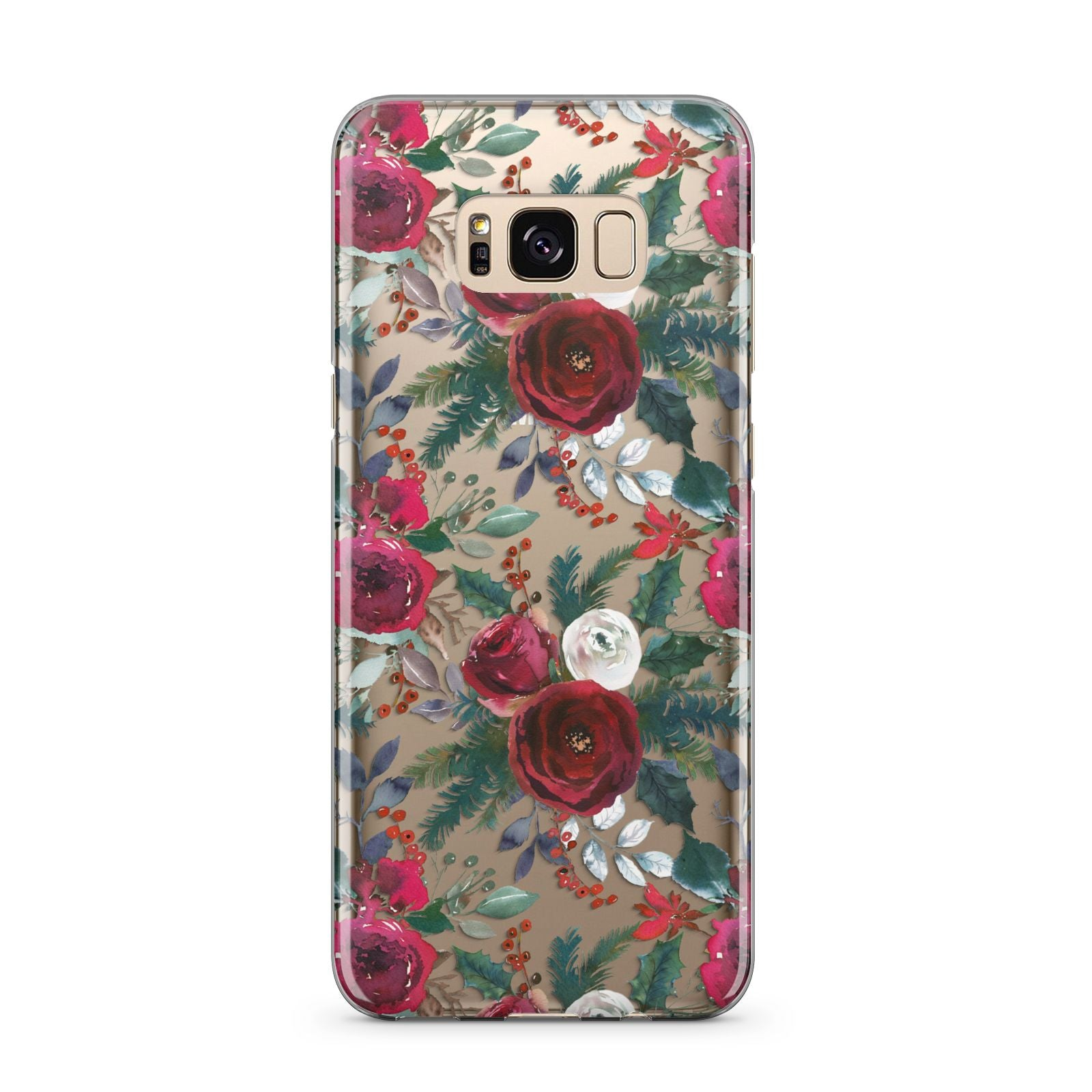 Christmas Floral Pattern Samsung Galaxy S8 Plus Case