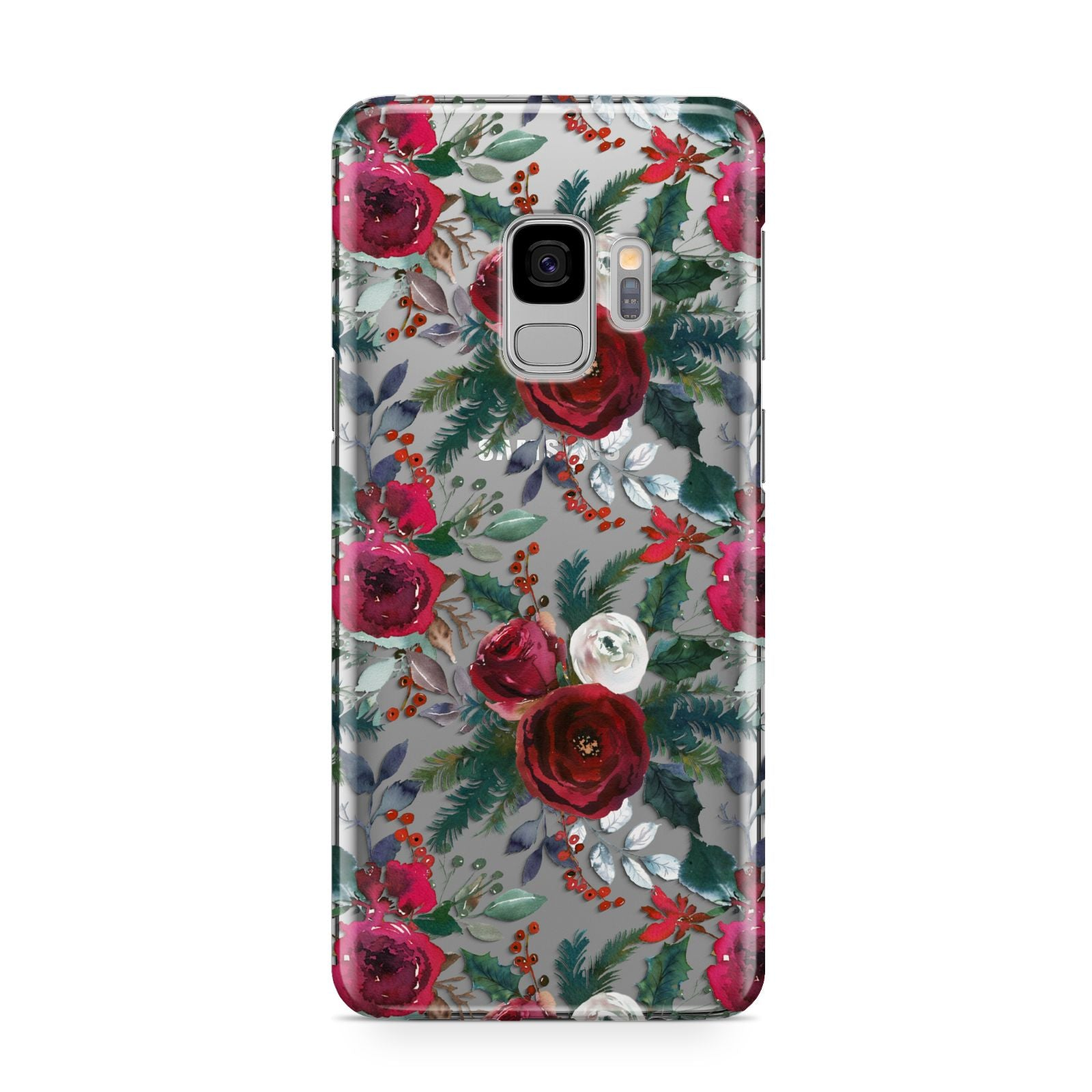 Christmas Floral Pattern Samsung Galaxy S9 Case