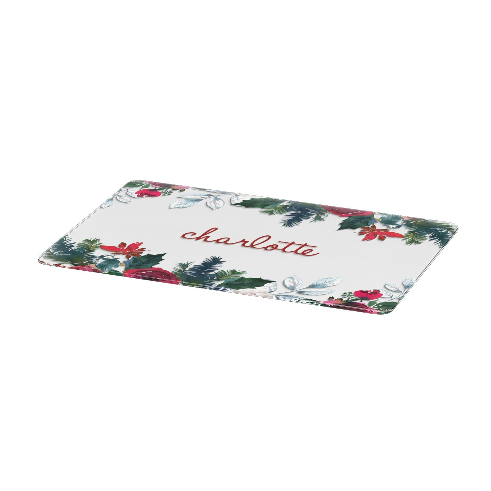 Christmas Flowers Personalised Apple MacBook Case Only