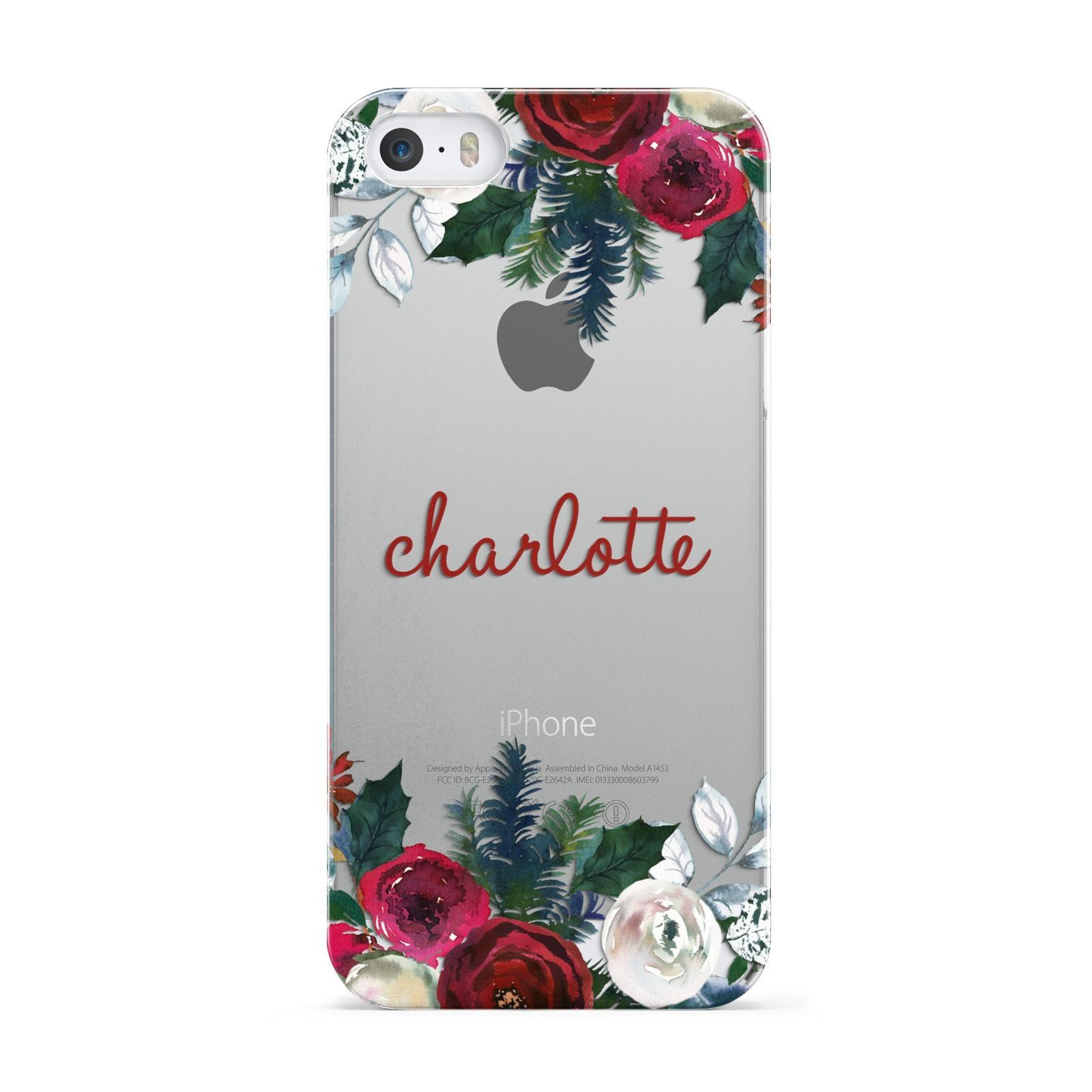 Christmas Flowers Personalised iPhone Case