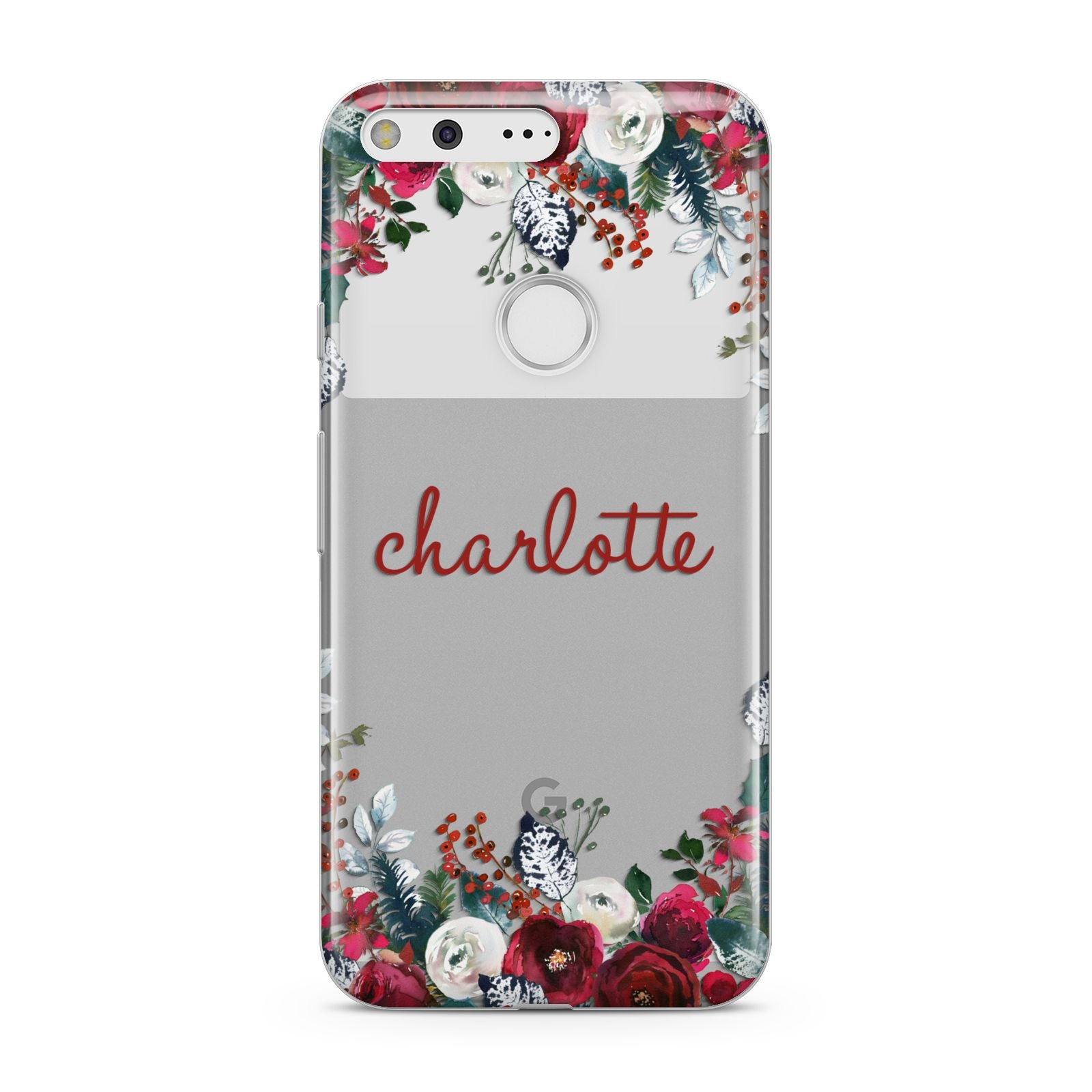 Christmas Flowers Personalised Google Pixel Case
