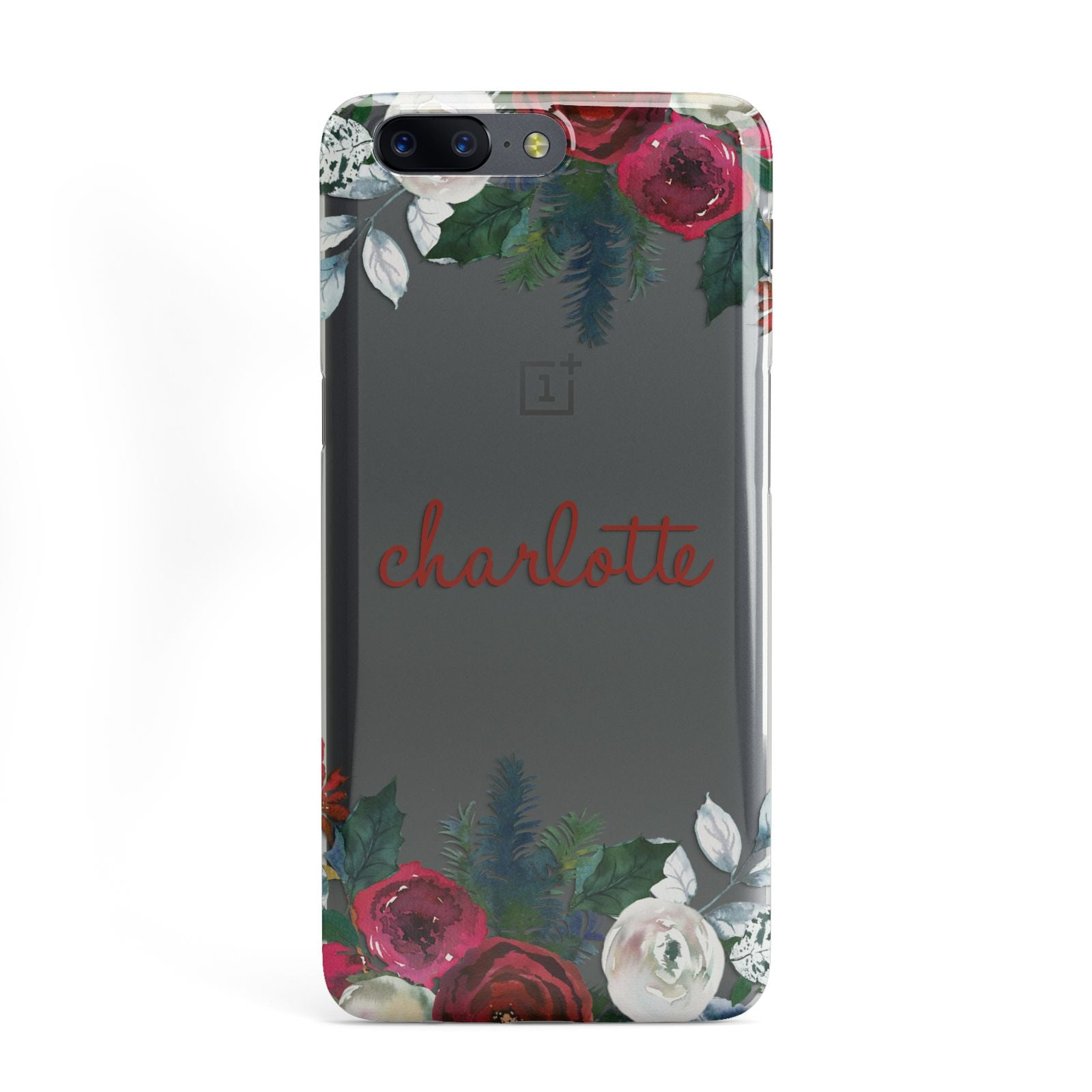 Christmas Flowers Personalised OnePlus Case