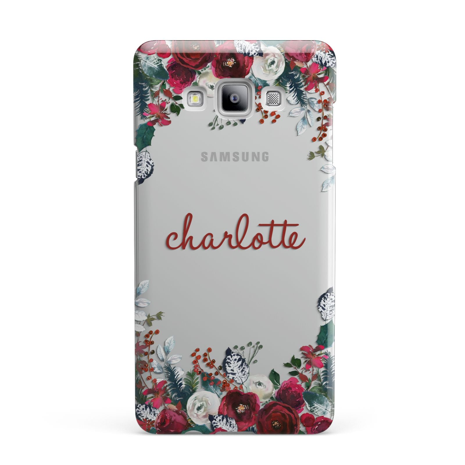 Christmas Flowers Personalised Samsung Galaxy A7 2015 Case