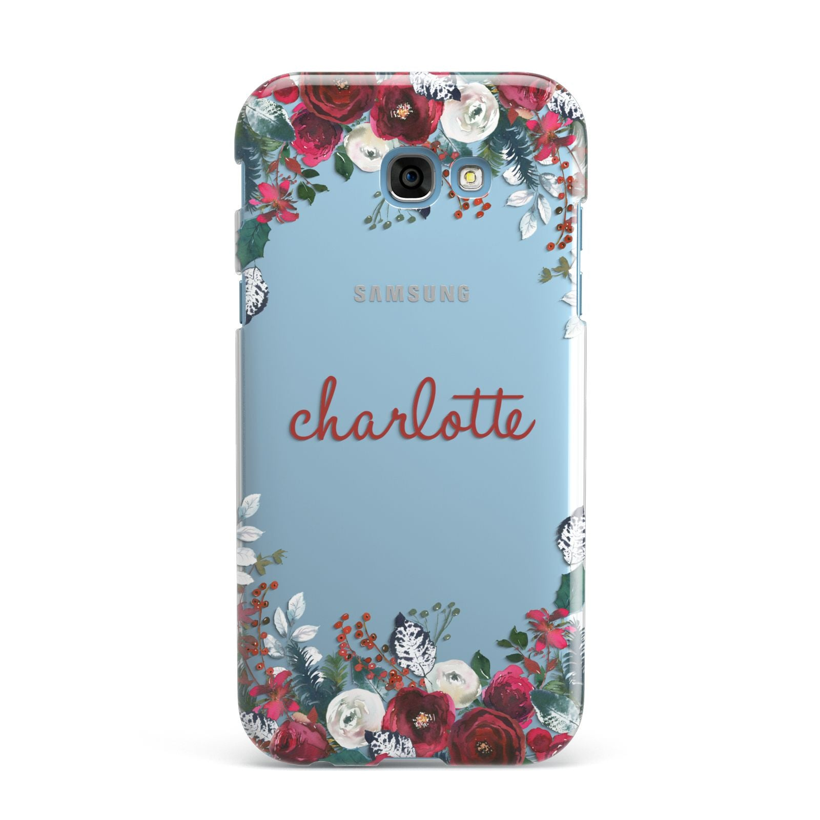 Christmas Flowers Personalised Samsung Galaxy A7 2017 Case