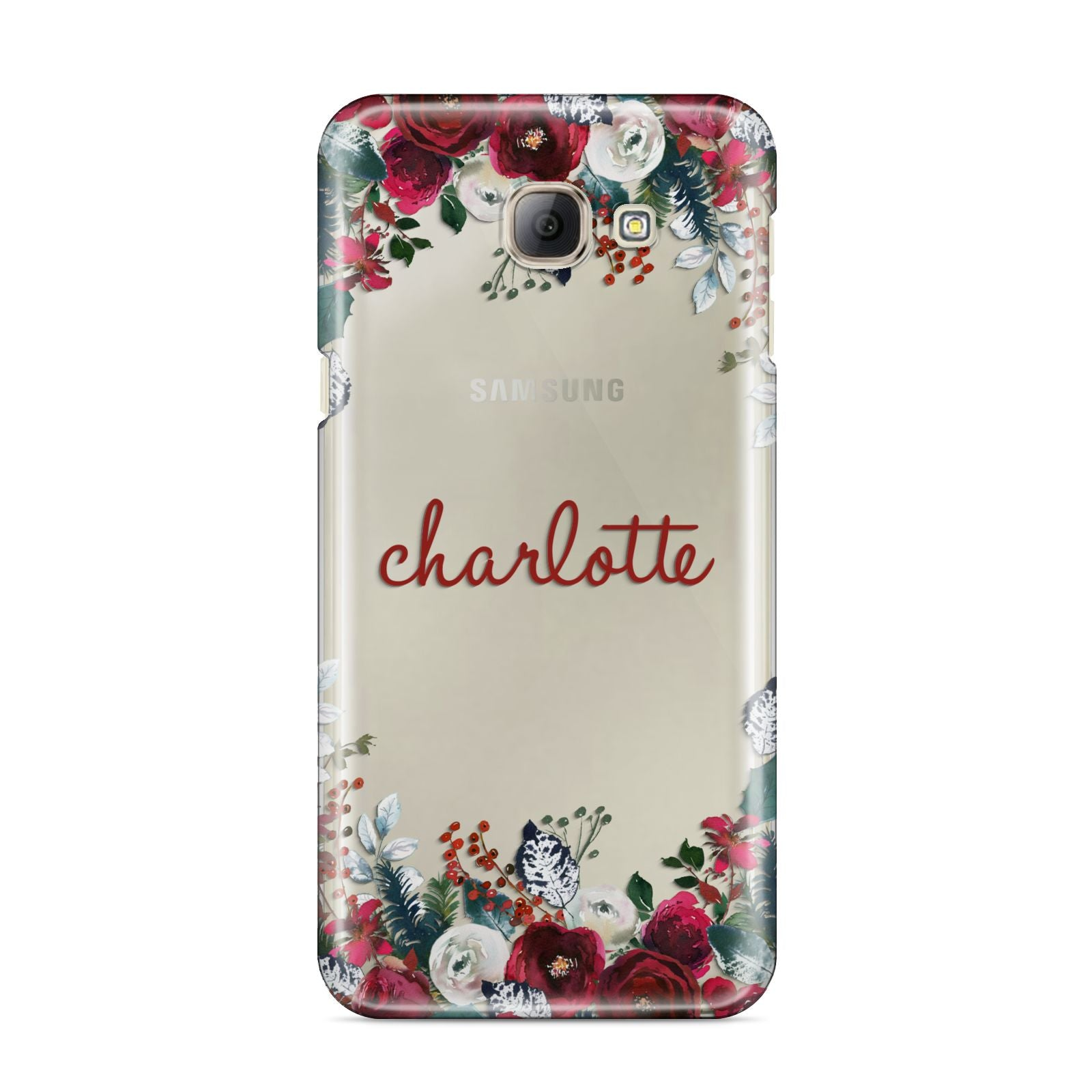 Christmas Flowers Personalised Samsung Galaxy A8 2016 Case
